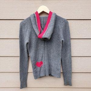 💕Aéropostale Marled Knit Sweater Full-Zip Hoodie